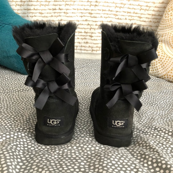 1ec7f720ffb Short Black UGG Boots with Bows